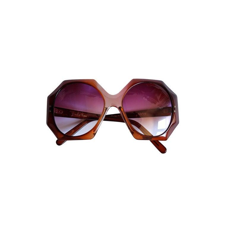 EMILIO PUCCI oversized tortoise sunglasses with gradient lenses For Sale