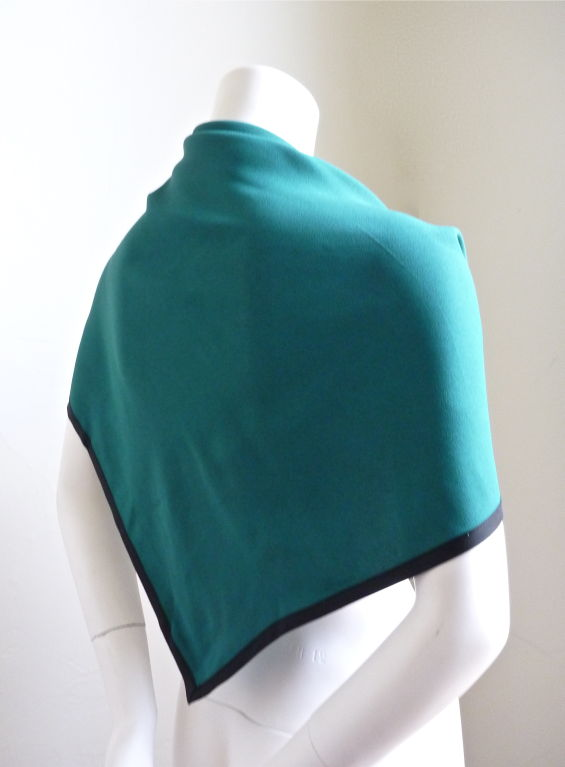 YVES SAINT LAURENT teal wrap with black trim 2
