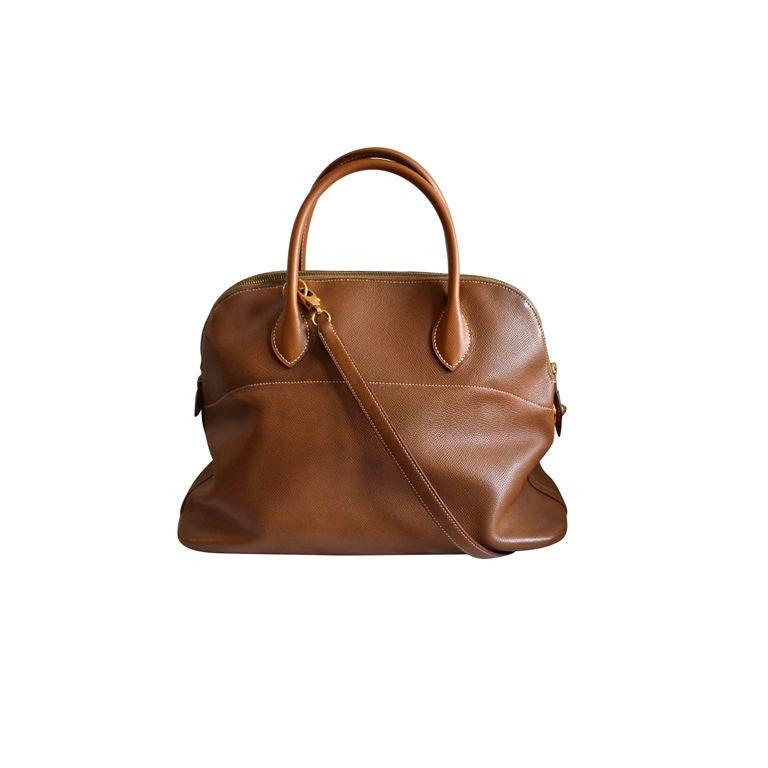 HERMES Bolide bag - 37 cm gold epsom leather For Sale