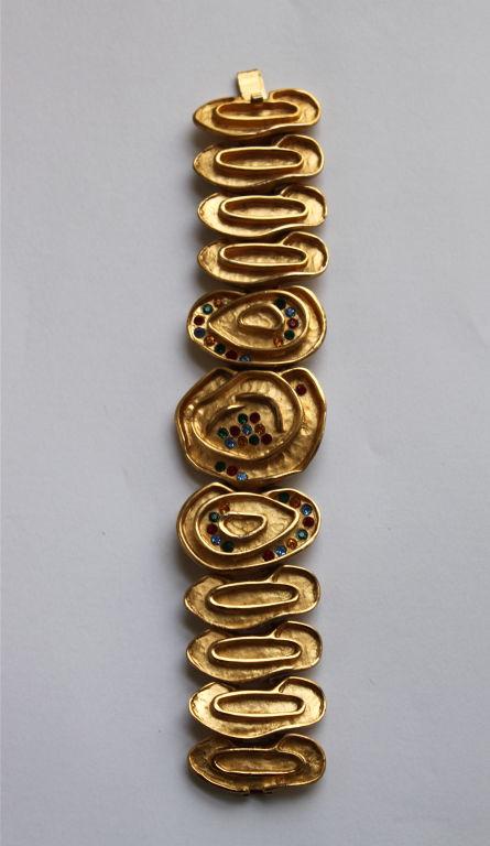 BALENCIAGA gilt bracelet with rhinestones 3