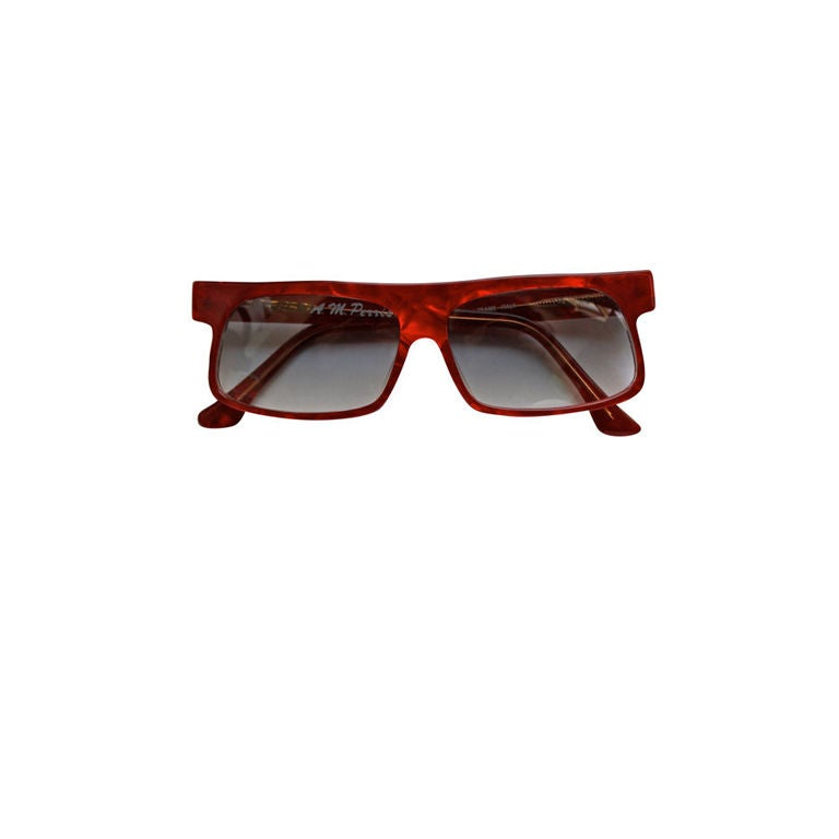 unworn ANNE MARIE PERRIS red shell sunglasses 1