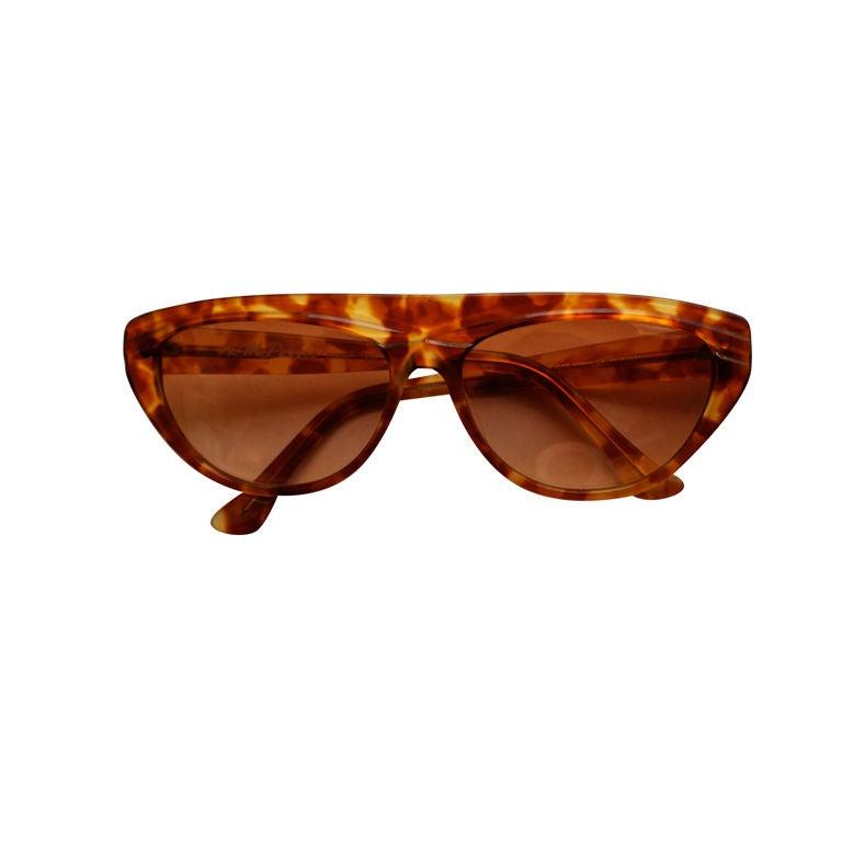 unworn ANNE MARIE PERRIS tortoise sunglasses For Sale