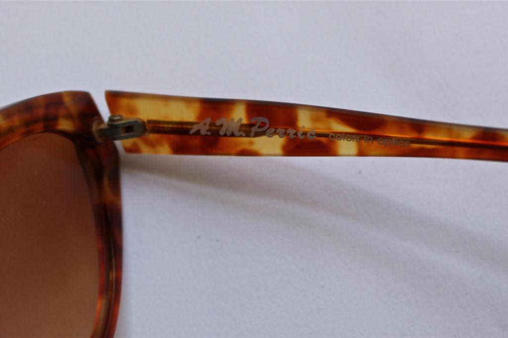 Brown unworn ANNE MARIE PERRIS tortoise sunglasses For Sale