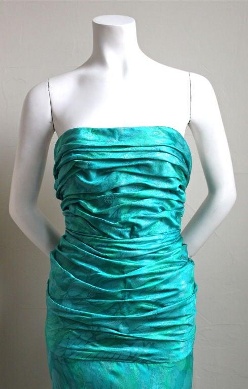 JEAN-LOUIS SCHERRER Boutique numbered silk ruched gown 3