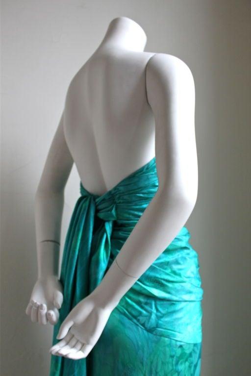 JEAN-LOUIS SCHERRER Boutique numbered silk ruched gown 4
