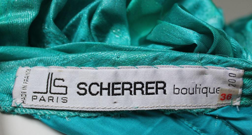 JEAN-LOUIS SCHERRER Boutique numbered silk ruched gown 5