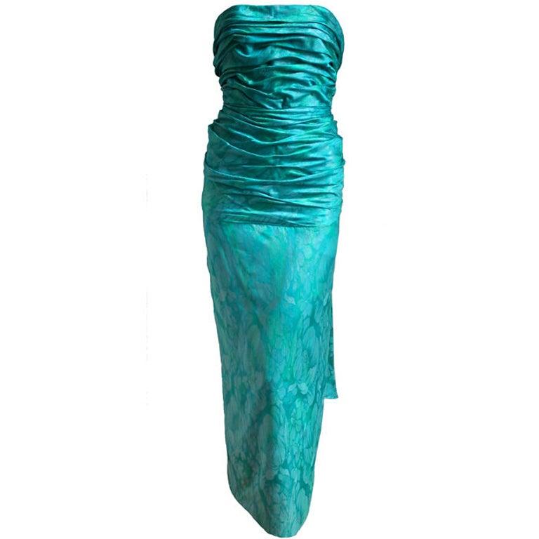 JEAN-LOUIS SCHERRER Boutique numbered silk ruched gown 1