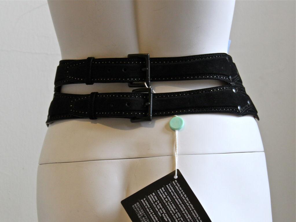 unworn AZZEDINE ALAIA black suede corset belt 2