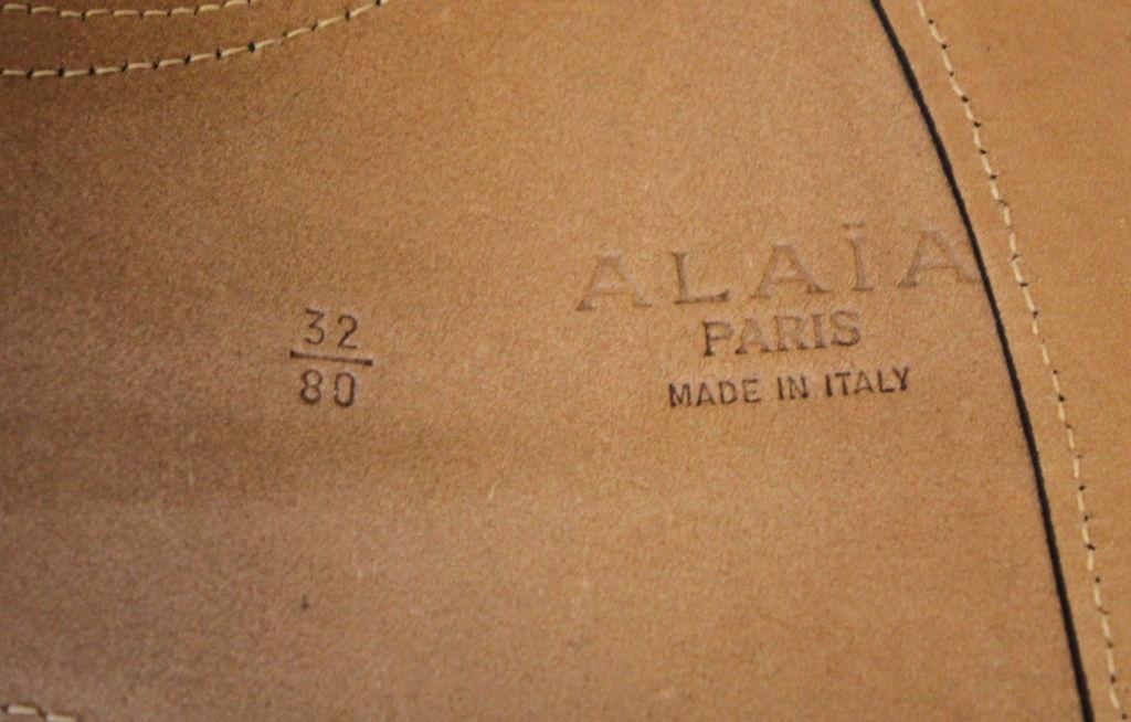 unworn AZZEDINE ALAIA black suede corset belt 3