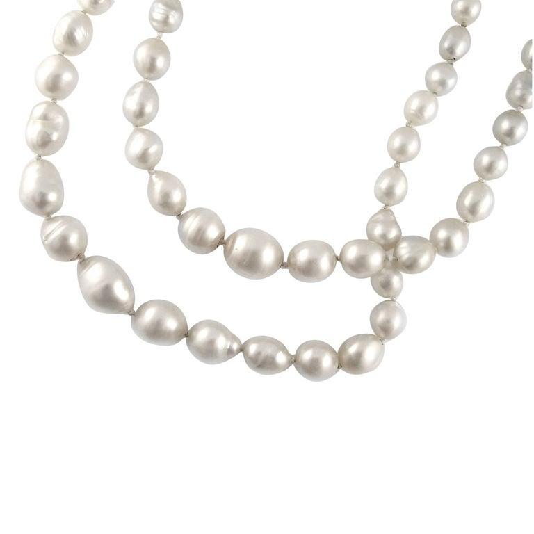 Two Vintage Baroque Pearl Necklaces