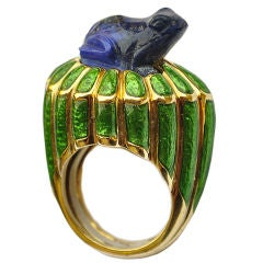 Amusing David Webb Frog Ring