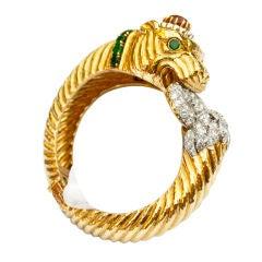 DAVID WEBB Superb Panther Bracelet