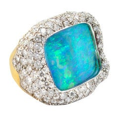 GRIMA Stunning Opal Diamond Ring