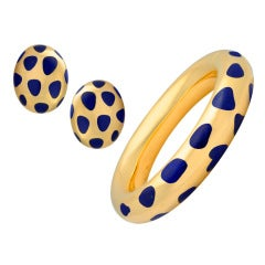 TIFFANY & CO. Lapis Bangle & Earclip Suite