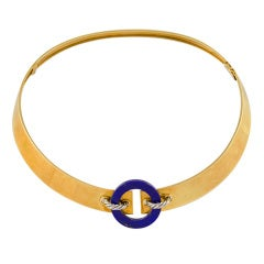 CARTIER Lapis Collar