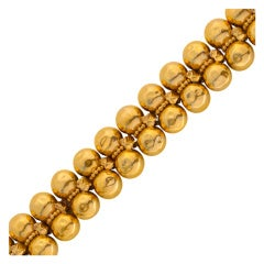 Hammered Gold Bead Bracelet by ZOLOTAS