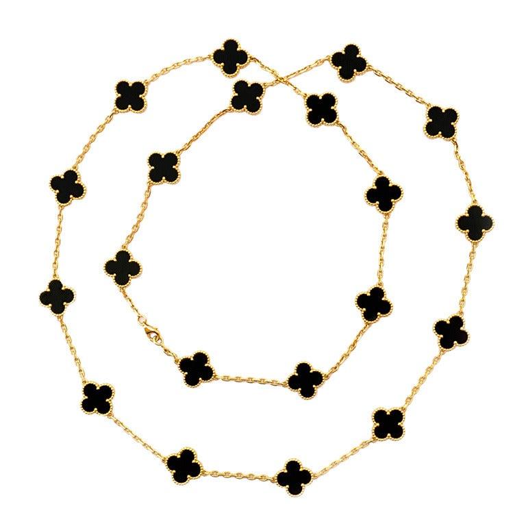 "VAN CLEEF & ARPELS Onyx ""Alhambra"" Chain 1"