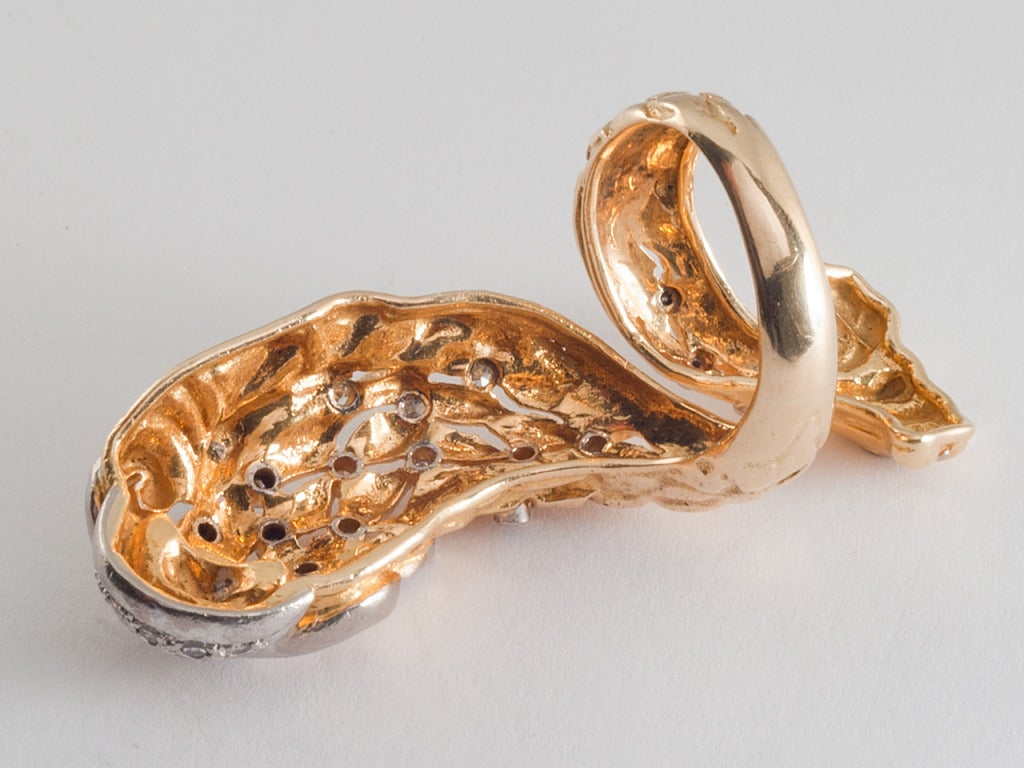lalaounis gold and dolphin ring at 1stdibs