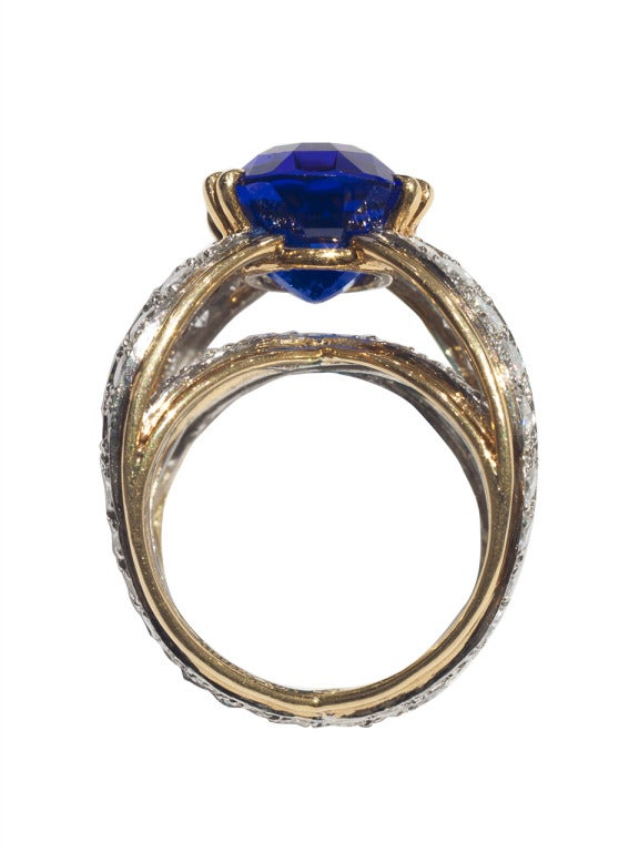 Tiffany & Co. Tanzanite Ring by Donald Claflin In Good Condition For Sale In San Antonio, TX