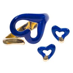 Lapis Cuff and Earring Suite by Elsa Peretti for Tiffany & Co.