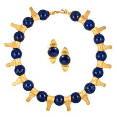 Lapis and 24kt Gold set by Ziva
