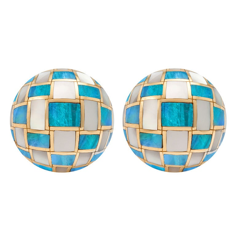Angela Cummings for Tiffany & Co. Mother-of-Pearl Opal Ear Clips 1