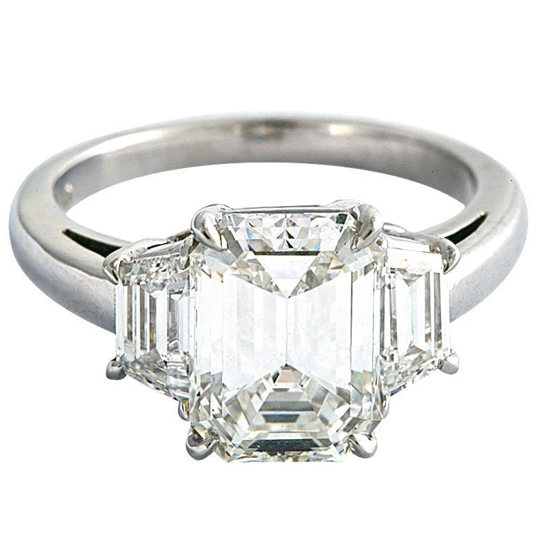 beautiful emerald cut ring at 1stdibs