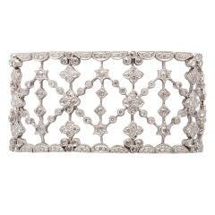 Diamond Floral Garland Wide CUff