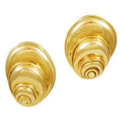 Solid Gold Snail-Shaped Earrings