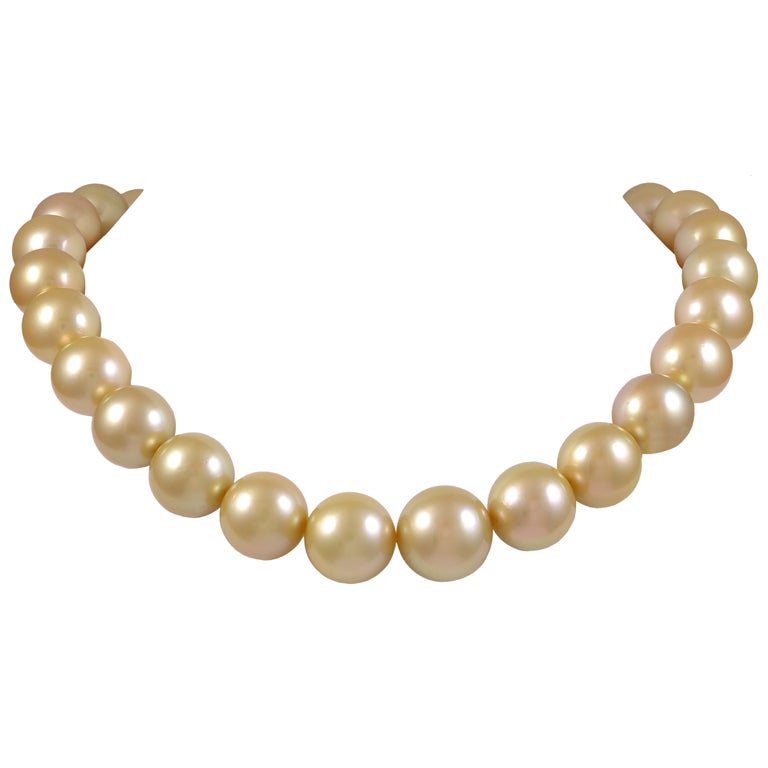 Golden South Sea Baroque Pearl Necklace