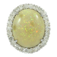 Opal Diamond Cocktail Ring