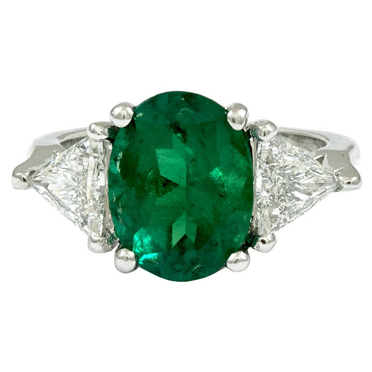 oval emerald ring at 1stdibs