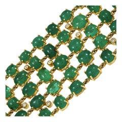 Wide Emerald Bracelet