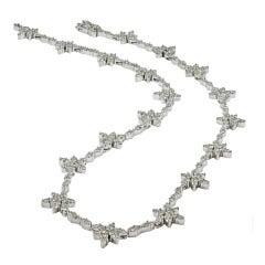 A Classic Diamond Flower Necklace