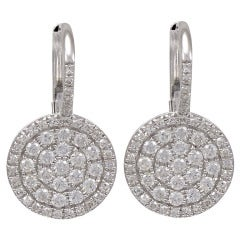 Diamond Disc Earrings on a Diamond wire