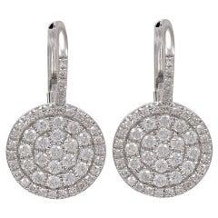 Diamond Disc Earrings on a Diamond wire