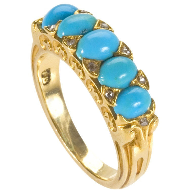 antique turquoise ring at 1stdibs