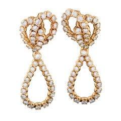 Verger Diamond and Gold Ear Pendants