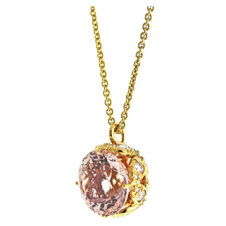 morganite and butterfly pendant at 1stdibs