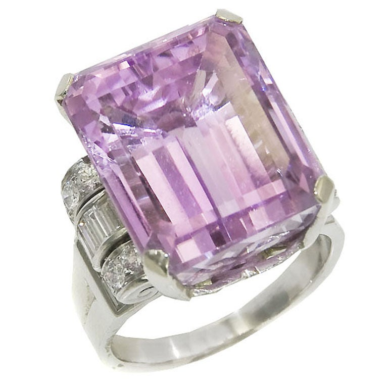 Pink Kunzite Ring For Sale