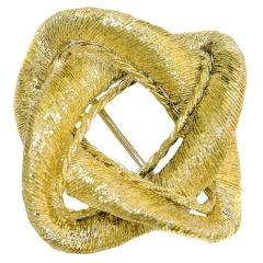 1960s Cartier 18K Brushed Knot brooch