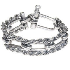 Sterling silver Nautical Bracelet by Gucci