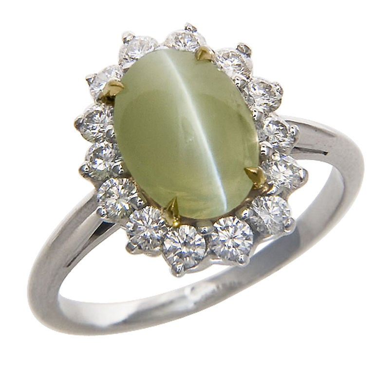 Platinum, Diamond And Chrysoberyl Cats Eye Ring By Oscar. Native American Wedding Rings. Engagement Ghana Rings. Mismatched Engagement Rings. 0.80 Carat Engagement Rings. Impossible Wedding Rings. Wang Wedding Rings. Middle Finger Engagement Rings. Guard Wedding Rings