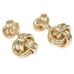 Tiffany & Company Classic 14K Knot Cufflinks