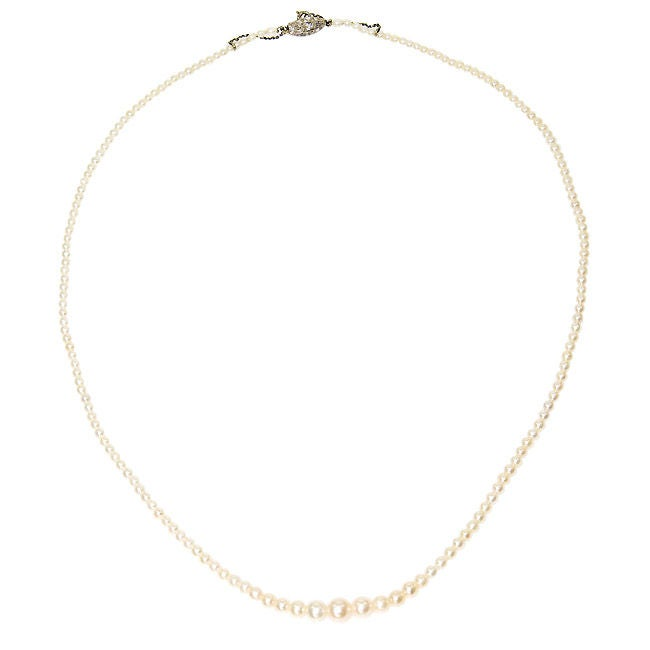 Antique Natural Pearl necklace with G.I A. Certificate 2