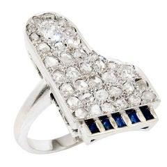 Diamond Piano Ring