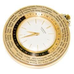 HERMES Paris World Time Pocket Watch