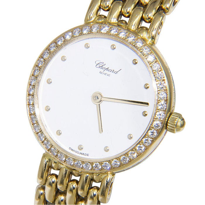 Women's CHOPARD  Ladies Gold and Diamond Watch For Sale