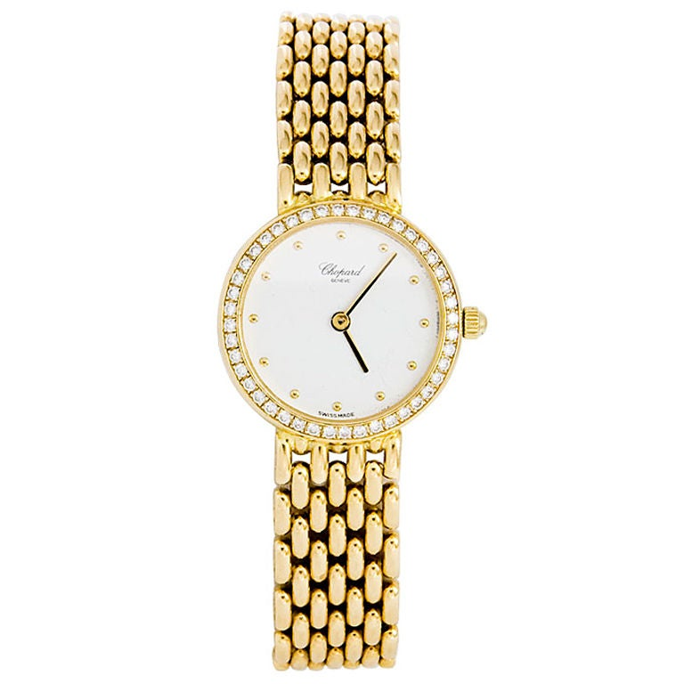 CHOPARD  Ladies Gold and Diamond Watch For Sale