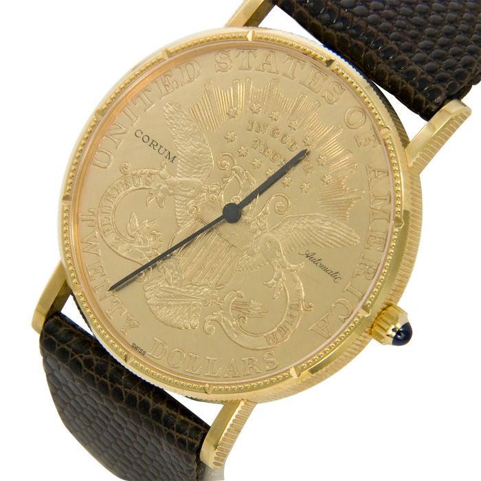 corum 20 gold coin gents wrist at 1stdibs